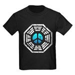 Dharma Blue Peace Kids Dark T-Shirt