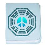 Dharma Blue Peace baby blanket