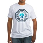 Dharma Blue Peace Fitted T-Shirt