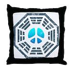 Dharma Blue Peace Throw Pillow