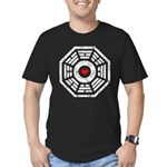 Dharma Red Heart Men's Fitted T-Shirt (dark)