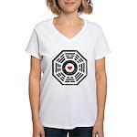 Dharma Red Heart Women's V-Neck T-Shirt
