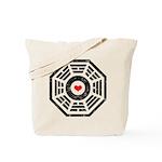 Dharma Red Heart Tote Bag