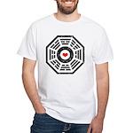 Dharma Red Heart White T-Shirt