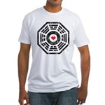 Dharma Red Heart Fitted T-Shirt