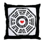 Dharma Red Heart Throw Pillow