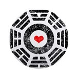 Dharma Red Heart Ornament (Round)