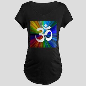 Om 3 Maternity Dark T-Shirt