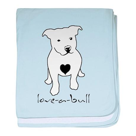 Love-a-Bull Pit Bull baby blanket