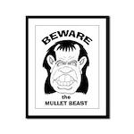 Mullet Beast Framed Panel Print