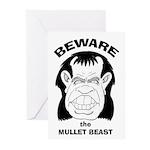Mullet Beast Greeting Cards (Pk of 10)