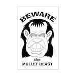 Mullet Beast Mini Poster Print