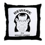 Mullet Beast Throw Pillow