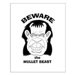 Mullet Beast Small Poster