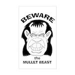 Mullet Beast Rectangle Sticker