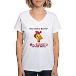 Mr. Cluck's Women's V-Neck T-Shirt