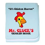 Mr. Cluck's baby blanket