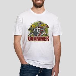 Skeleton Drummer Fitted T-Shirt