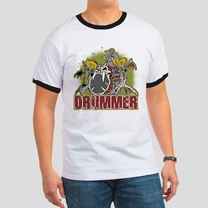 Skeleton Drummer Ringer T