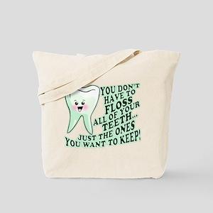 Funny Dental Hygiene Tote Bag