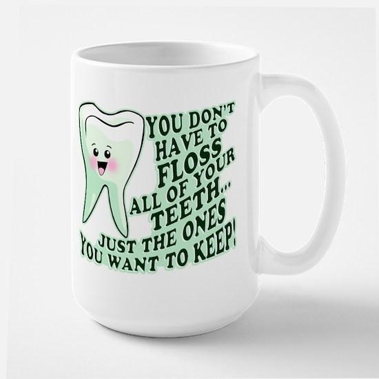 Funny Dental Hygiene Large Mug