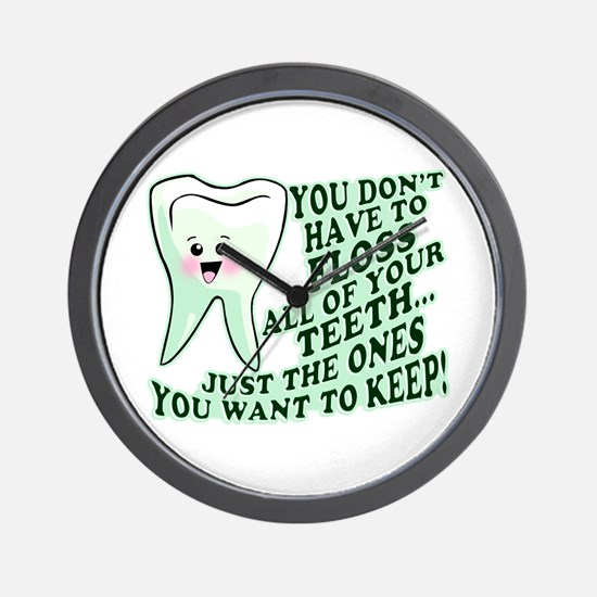 Funny Dental Hygiene Wall Clock