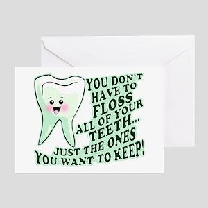 Funny Dental Hygiene Greeting Card