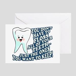 Funny Dentist Hygienist Greeting Card