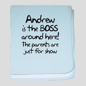Andrew is the Boss baby blanket