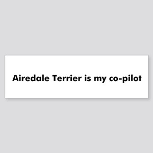 Airedale Terrier is my co-pil Bumper Sticker