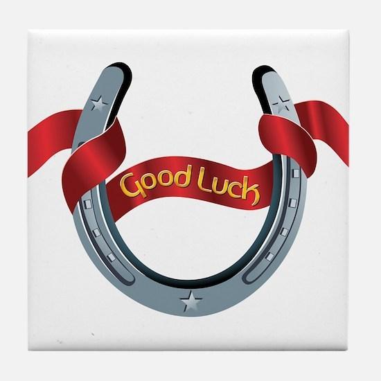Horseshoe Good Luck Tile Coaster