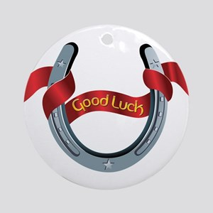 Horseshoe Good Luck Ornament (Round)