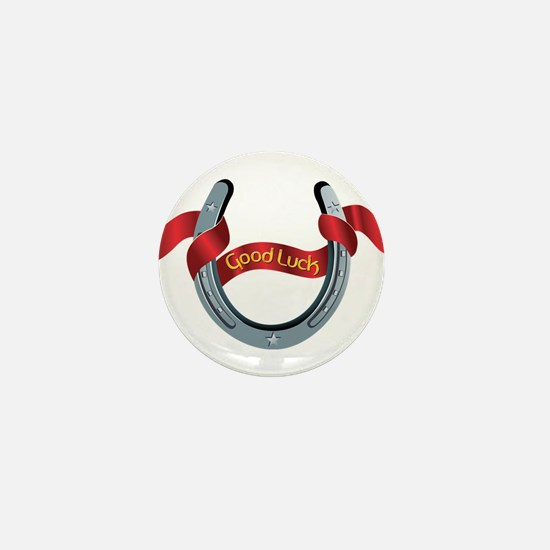 Horseshoe Good Luck Mini Button
