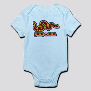 Join Or Die Gay Rights Gay Ma Infant Bodysuit