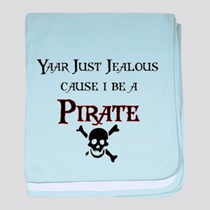 I be a Pirate baby blanket