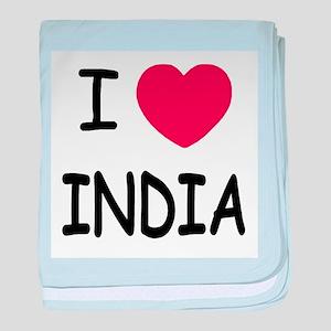 I heart India baby blanket