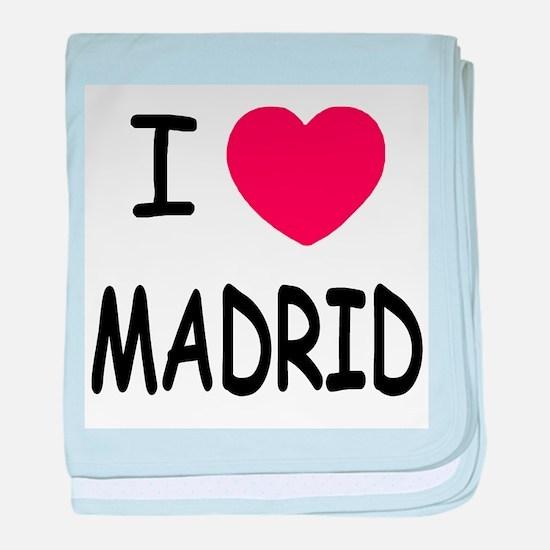 I heart Madrid baby blanket