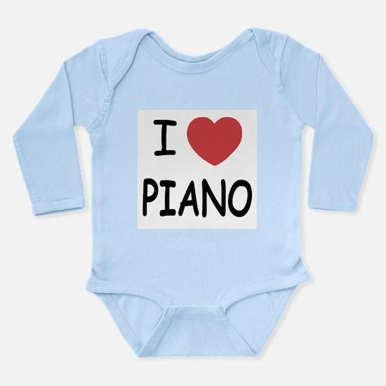 I heart piano Long Sleeve Infant Bodysuit
