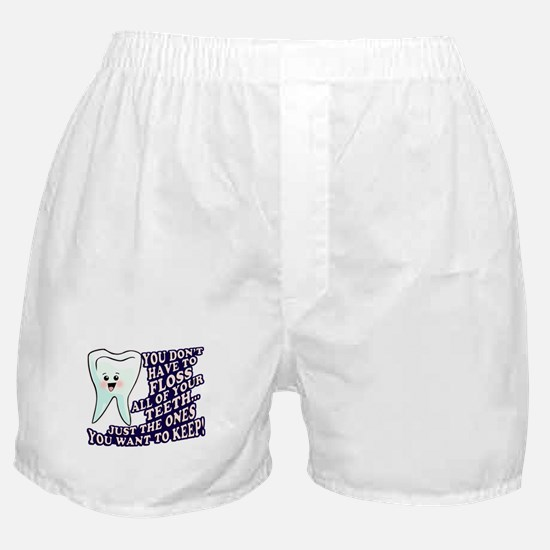 Brush and Floss Boxer Shorts