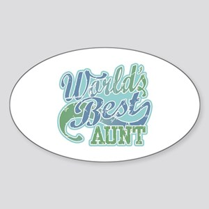 World's Best Aunt Sticker (Oval)