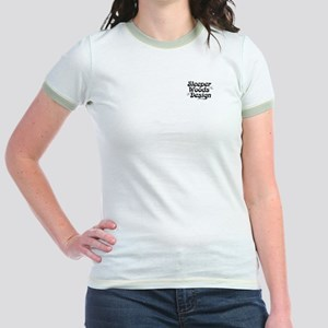 SWD logo on Pink Jr. Ringer T-Shirt