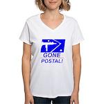 Gone Postal Women's V-Neck T-Shirt