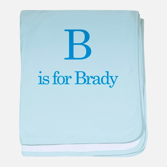 B is for Brady baby blanket