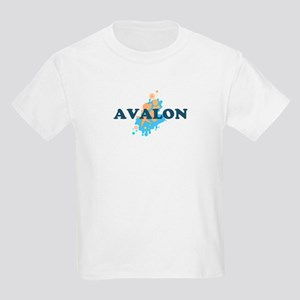 Avalon NJ - Seashells Design Kids Light T-Shirt