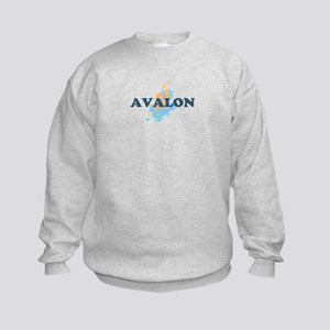 Avalon NJ - Seashells Design Kids Sweatshirt