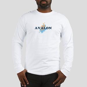 Avalon NJ - Seashells Design Long Sleeve T-Shirt