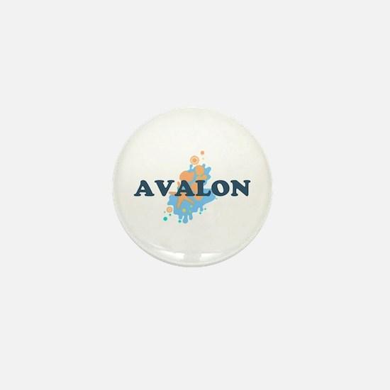 Avalon NJ - Seashells Design Mini Button