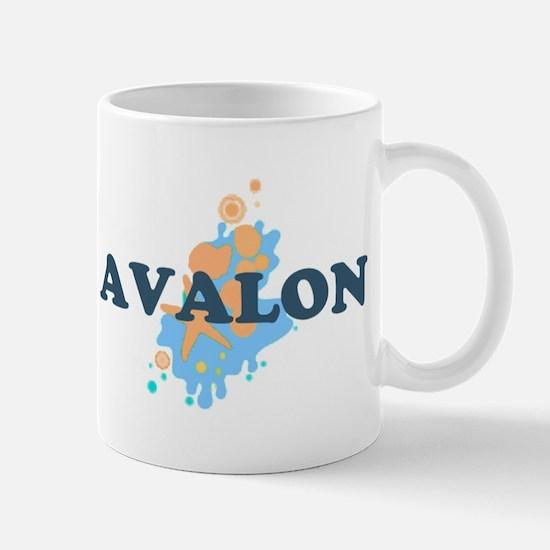 Avalon NJ - Seashells Design Mug