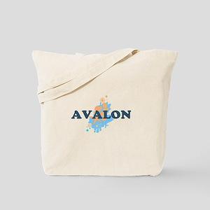 Avalon NJ - Seashells Design Tote Bag