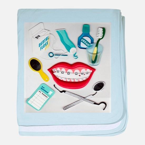 Dentist Jelly Beans baby blanket